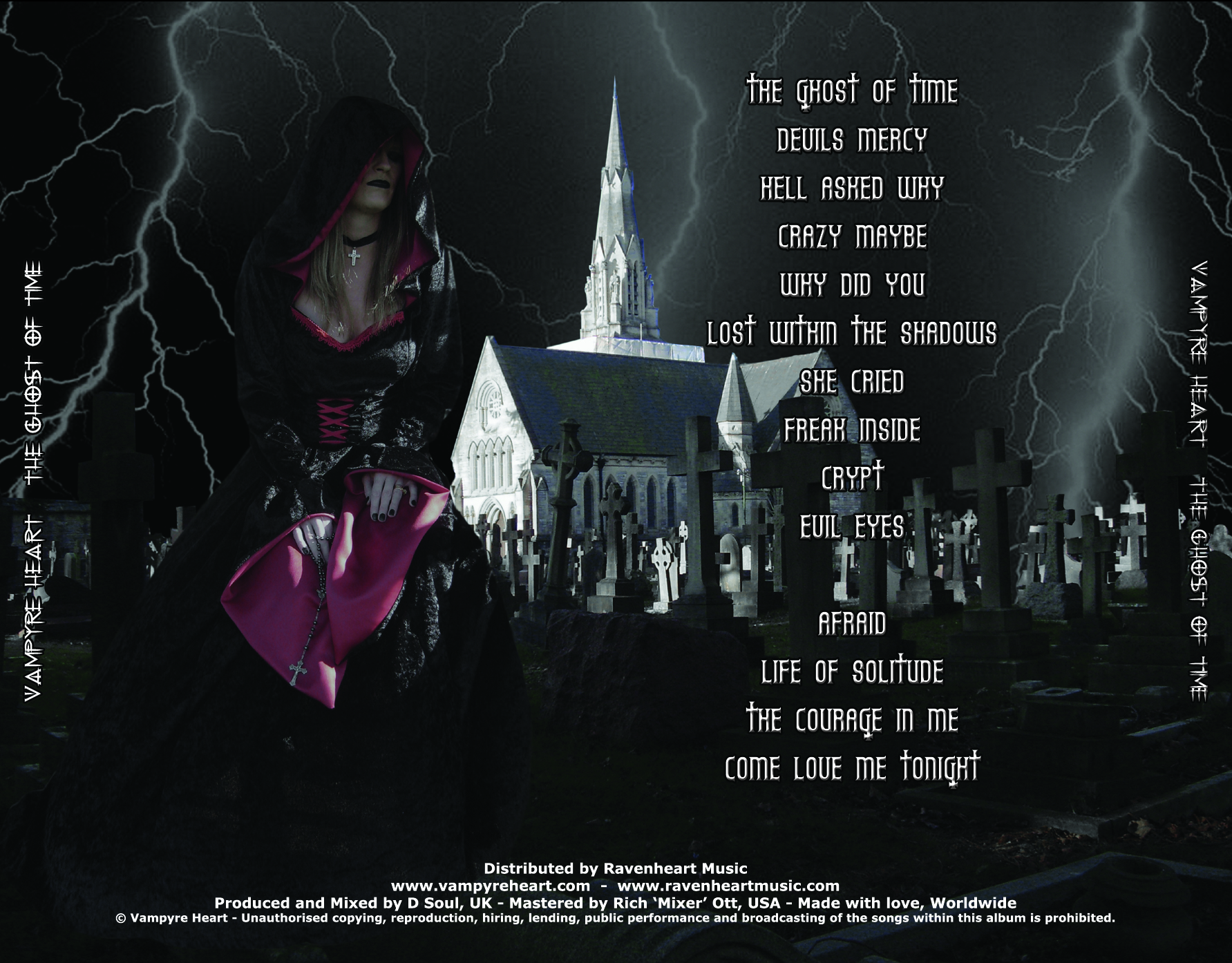 Vampyre Heart - The Ghost of Time - Double Album - Back Cover